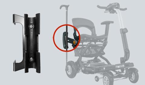 Stockhalter – Montage an der Armlehne für das Brio Elektromobil