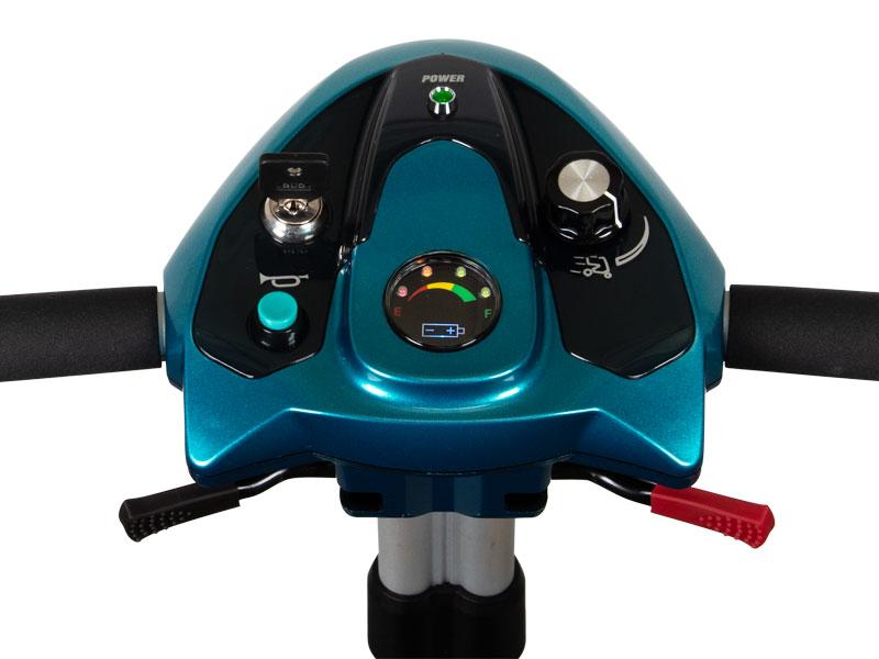 Overzichtelijk en verlicht bedieningspaneel (snelheid 8 km/h)