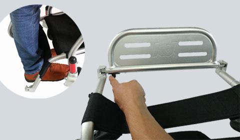 Wegklapbare voetsteun voor de Smart Chair