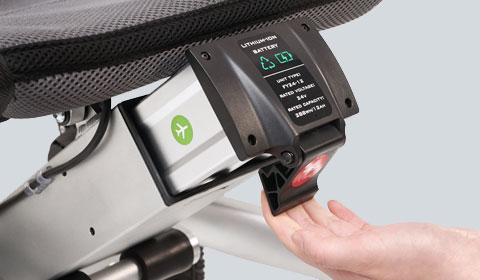 Extra set lithium batterijen voor de Smart Chair Travel