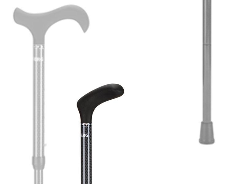 Zwart geruite wandelstokken verkrijgbaar in twee uitvoeringen