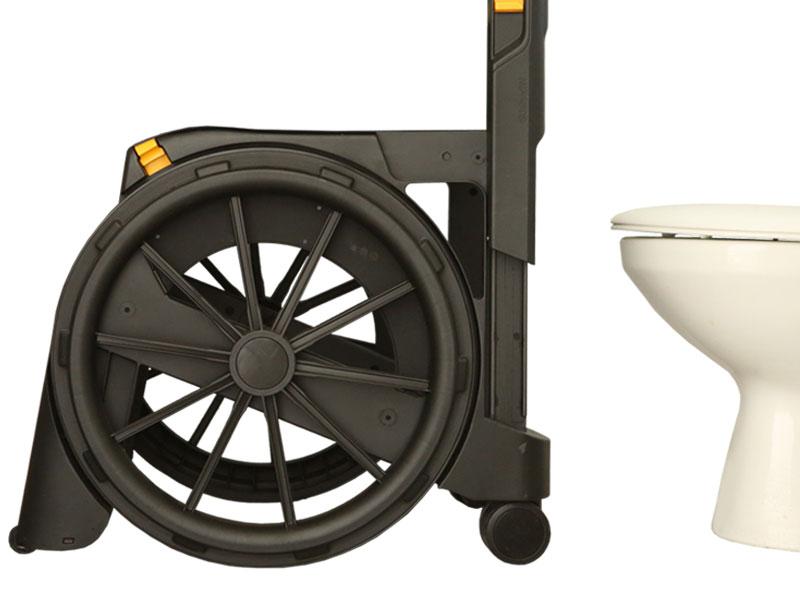 Weer altijd en overal naar de wc; de WheelAble past over iedere normale toilet
