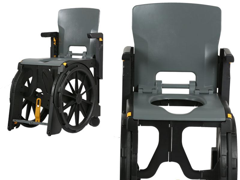 De wendbare en waterbestendige WheelAble maakt elke sanitaire ruimte weer bereikbaar