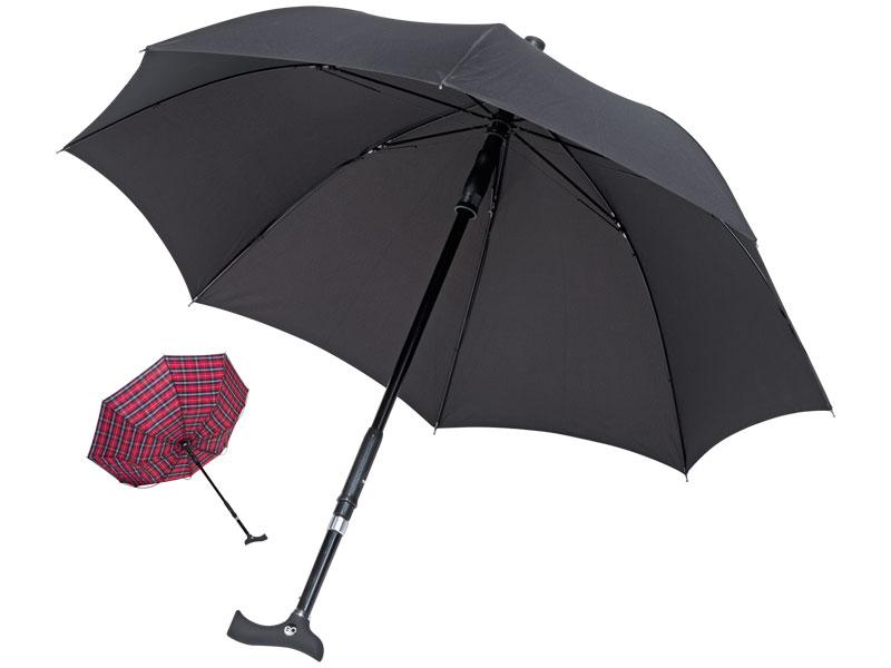 Vuil- en waterafstotende paraplu met speciale stormbeveiliging